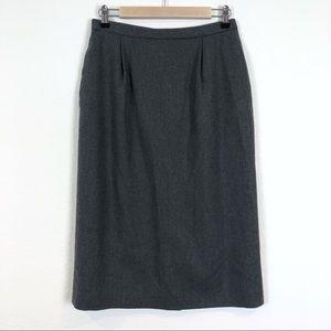 Pendleton Virgin Wool Charcoal Midi Pencil Skirt